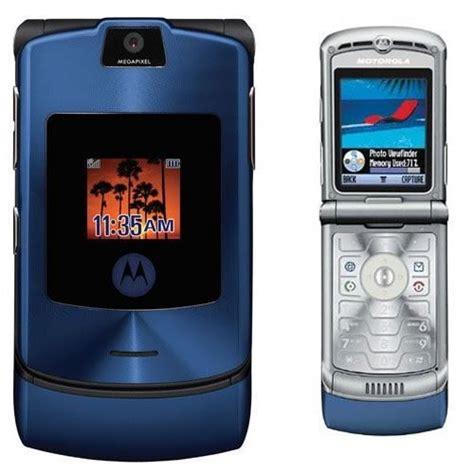 V3 Mobile Phone by Motorola Razr V3 Unlocked Flip Mobile Phone New Boxed Blue
