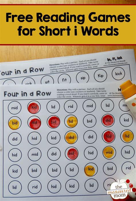 row games  short  words  measured mom