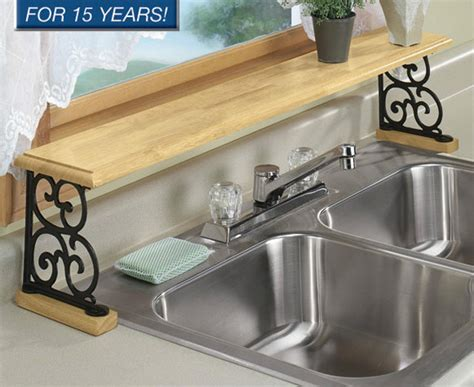 Solid Wood Iron Kitchen Bathroom Counter Over The Sink