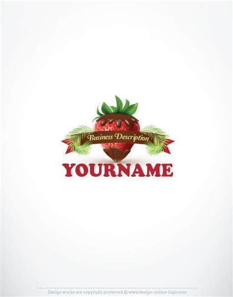 exclusive design strawberry chocolate logo