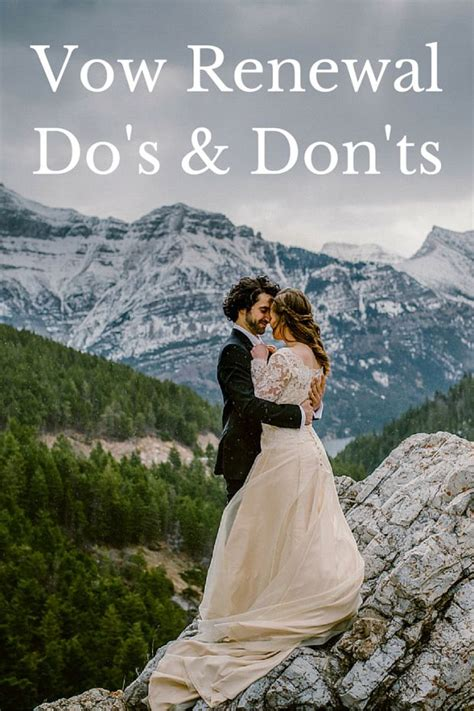 vow renewal etiquette vow renewals wedding