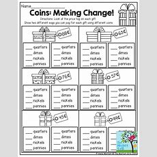 Coins Making Change! This Is A Great Activity For 2nd Grade This Practical Life Exercise Would