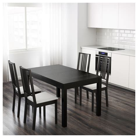 extension dining room tables bjursta extendable table brown black 140 180 220 x 84 cm 7105