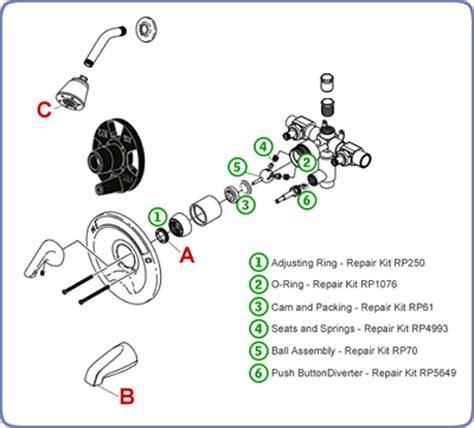 kohler kitchen faucet parts diagram leaks