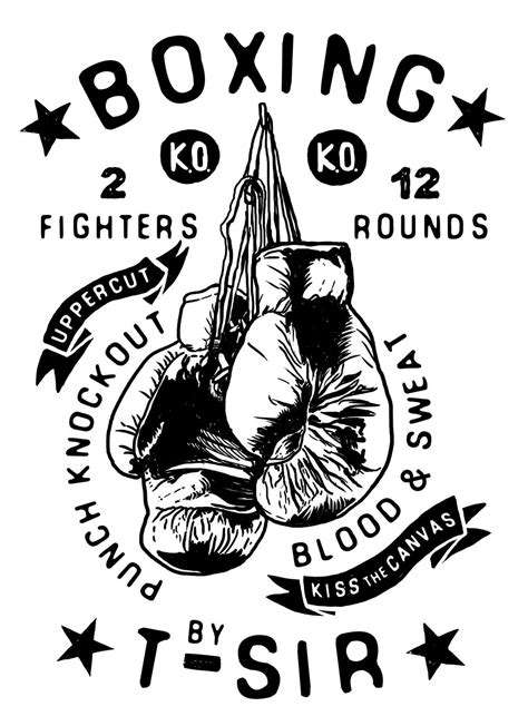 Boxing T-Sir design | Oscar Postigo | MY ILLUSTRATIONS | Pinterest | Box, Logos and Tattoo