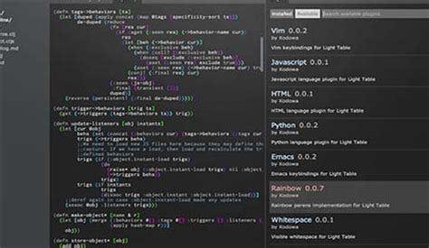 Light Table Ide by Light Table An Open Source Ide Designbeep