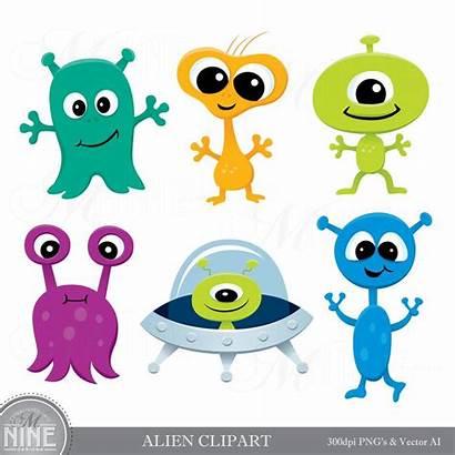 Alien Clipart Aliens Clip Space Party Downloads