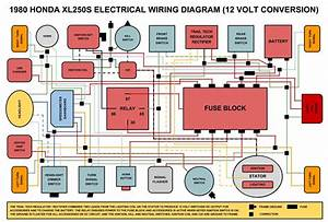 Detailed Diagram For 1980 Honda Xl250s 12 Volt Conversion  X R  Honda Xr And Xl    Motorcycles