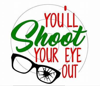 Christmas Story Eye Cricut Svg Shoot Ll