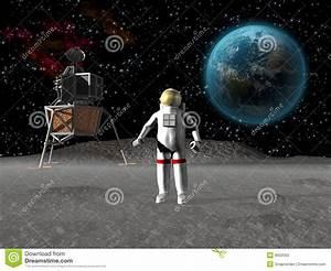 Astronaut On The Moon Stock Photos - Image: 8502563