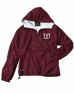 sigma delta tau letters windbreaker jacket by adam block With greek letter rain jacket