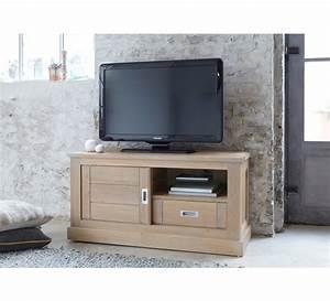 Meuble Tele Bas : meuble t l chene massif 3820 ~ Teatrodelosmanantiales.com Idées de Décoration