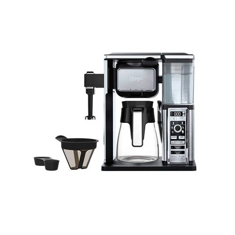 Use one scoop of ground coffee for every cup of water. Ninja Coffee Bar® Glass Carafe System (CF091)   Ninja®