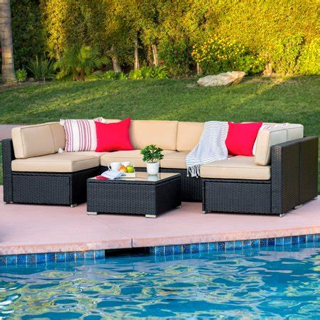 Best Choice Products 7pc Outdoor Patio Garden Wicker