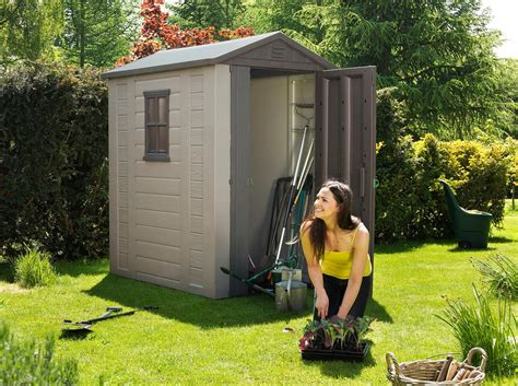 4x6 Rubbermaid Storage Shed by Keter Factor Large 4 X 6 Ft Resin Outdoor