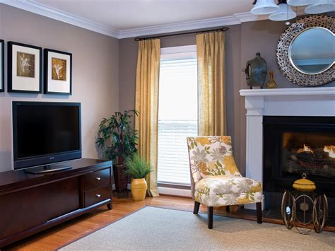 transitional gray living room with soft yellow accents the