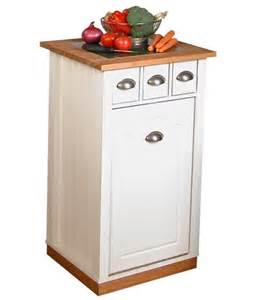kitchen island with trash bin wooden trash cans for the kitchen