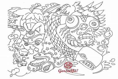 Random Coloring Pages Colouring Lines Inking Ll
