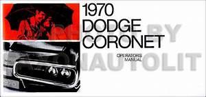 1970 Coronet  Super Bee   U0026 R  T Wiring Diagram Manual Reprint