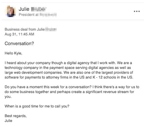 cold call email the best cold email i received and how to his approach