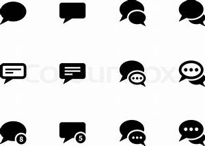 13 White Text Message Icons Images - Text Message Bubble ...