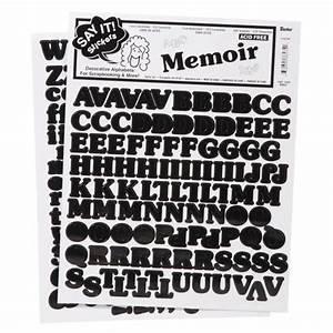 alphabet stickers large memoir black With large black letter stickers