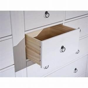 Console Blanche Pas Cher : commode provence blanche 7 tiroirs en pin massif achat ~ Dailycaller-alerts.com Idées de Décoration