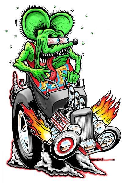 rat fink hot rods  rats  pinterest