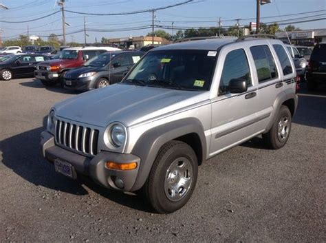 jeep liberty 2015 grey find used 2003 jeep liberty sport suv silver gray 4wd four