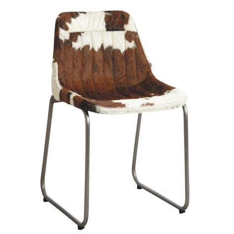 chaise peau de vache chaise en peau de vache marron et blanche mch1430c