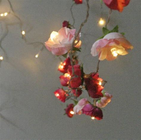 Bohemian Garden Mixed Rose Fairy Lights Pretty Flower String