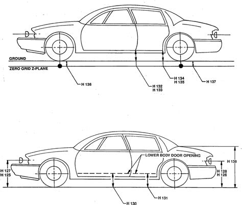 typical width of car motor vehicle dimensions