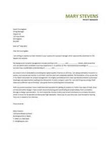 Ict Officer Cover Letter Manager Cover Letter Exle Project Manager Cover Letter Exle