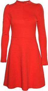 carven robe jersey technical dress red in red lyst With robe carven