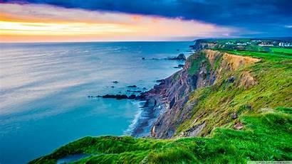 Cornwall England Coast Kingdom United Sunset Desktop