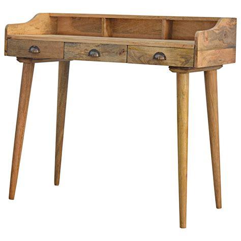 solid wood writing desk wholesale oak ish 3 drawer writing desk