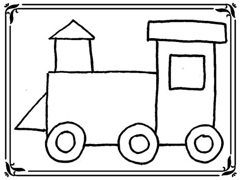 train coloring pages  toddlers realistic coloring pages