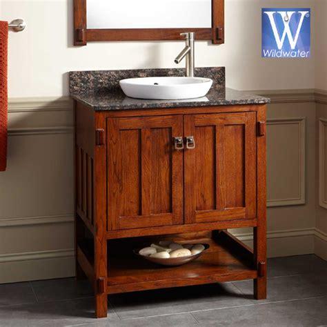 Mission Style Bathroom Vanity - oak bathroom vanities mission