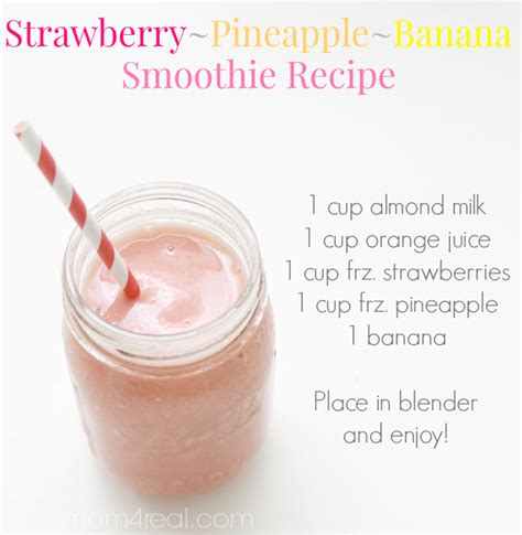 how do you make a smoothie strawberry pineapple banana smoothie blendtec giveaway mom 4 real