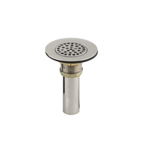 Kohler Sink Strainer Stainless Steel by Shop Kohler 4 5 In Dia Stainless Steel Fixed Post Sink