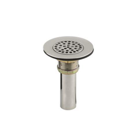 kohler sink strainer stainless steel shop kohler 4 5 in dia stainless steel fixed post sink