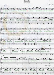 Imagine Dragons Piano Sheet Music Thunder