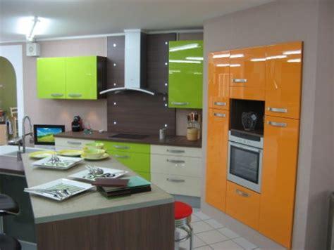 deco cuisine vert decoration cuisine orange et vert