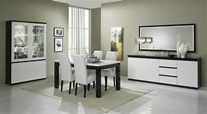 Miroir rectangulaire de salle a manger design laque blanc for Meuble salle À manger avec buffet salle a manger noir et blanc
