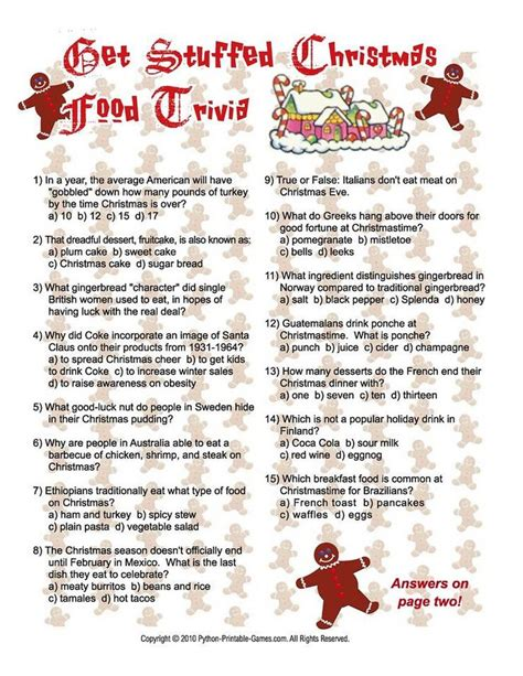 Free Christmas Games For Adults To Print  Python Printable Games  Party Games Pinterest