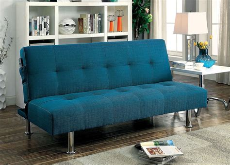 dewey futon sofa dark teal  furniture  america