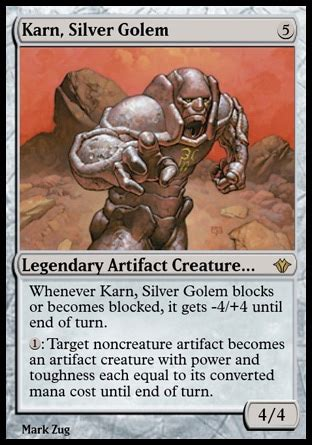 karn silver golem artifact beatdown and control
