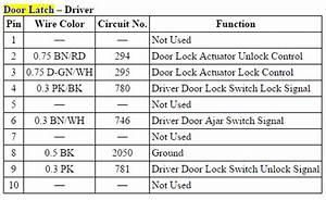 Door Actuator Pin Out