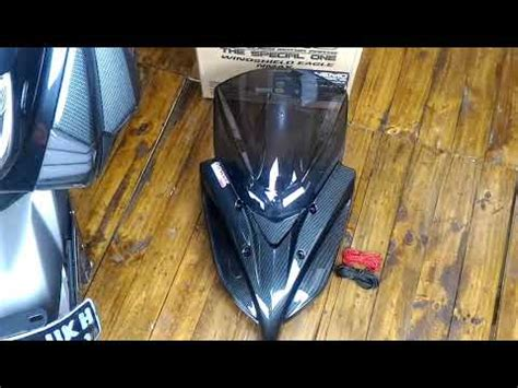 windshield nmax carbon type eagle windshield nmax type eagle usb charger youtube