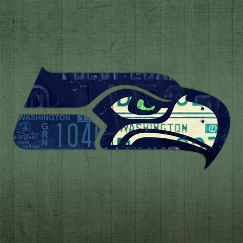 seattle seahawks football team retro logo washington state